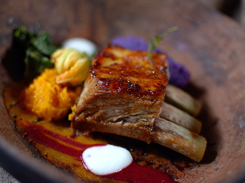 Fine Dining Beef Ribs Dish
