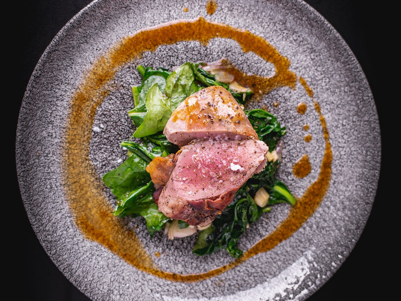 Juicy Pork Tenderloin with Greens